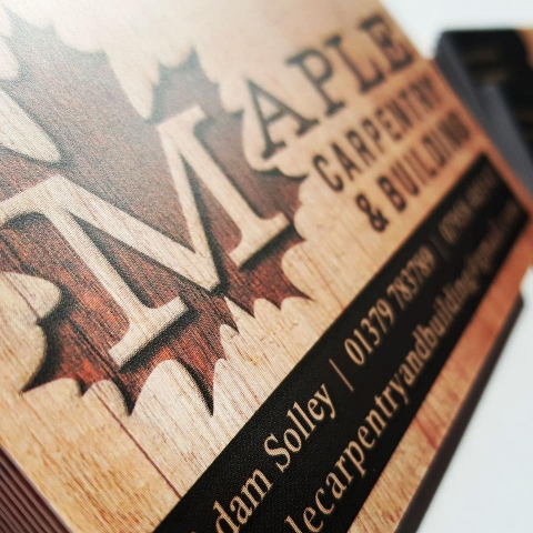 Maple Carpentry & Building business cards