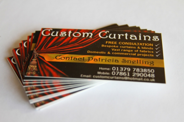 Custom Curtains Business Cards