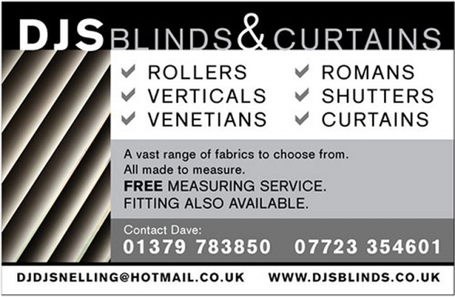 DJS Blinds Landscape Advert