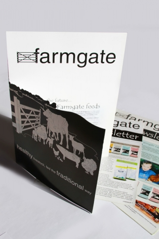 Farmgate Die Cut Brochure