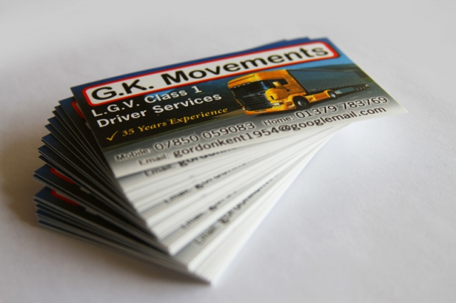 GK Movements Business Cards