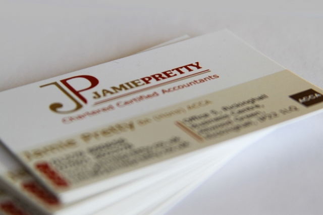 Jamie Pretty Accountancy Business Cards
