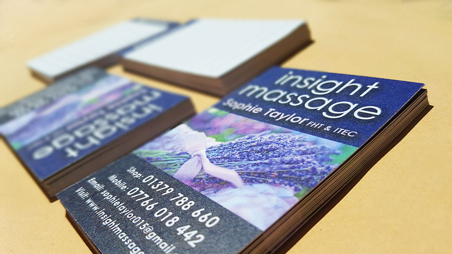 Insight Massage appointment cards