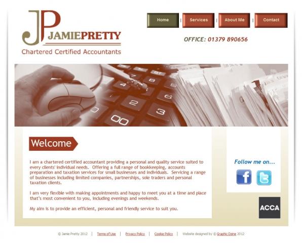Jamie Pretty Website