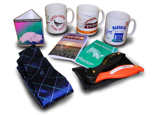 Mugs, Tie, Pen Pot, Note Pads & Corporate Gifts